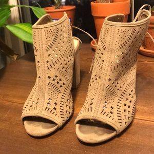 Slip on cut out booties